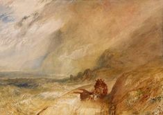 Joseph Mallord William Turner 'Penmaen-Mawr', - Watercolour on paper - Watercolour on paper - Dimensions Support: 312 x 440 mm - Dimensions Support: 312 x 440 mm - © The British Museum Joseph Mallord William Turner, Oil Paintings, Landscape Paintings, Turner Watercolors, English Romantic, English Artists, Classic Paintings, North Wales, Traditional Paintings