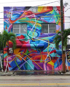 graffiti / Mural en Miami Wynwood 2015