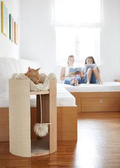 Cat box 3 in 1 Niche Chat, Cat Tree House, Diy Cat Tree, Cat Playground, Cat Scratcher, Cat Condo, Cat Room, Pet Furniture, Animal Decor