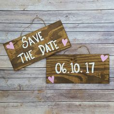 Save The Date Signs Engagement Photo Props Couples Engagement Props Wood Engagment Signs Custom Engangement Signs Set of 2\ by ThePeculiarPelican #etsyseller #etsyshop #woodensigns #customsigns #shopsmall #shopping #gifts #giftideas #porchsigns #weddingsigns #southernsigns #quotes #handmade #handpainted #signs http://ift.tt/2c6qDSR