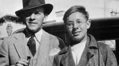 At the age of 14 Ray Bradbury landed himself a job writing for George Burns and Gracie Allens radio show. The Master of Science Fiction is shown here with his new boss shortly after they began collaborating... (circa 1934) http://ift.tt/2hj4rIB