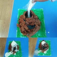 Yanardağ deneyi sirke ve karbonat yeterli