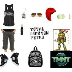 """TMNT Hipster"" by thenat1 on Polyvore"