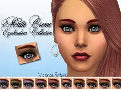 Matte Creme Eyeshadow by fortunecookie1 at TSR via Sims 4 Updates