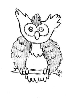 Simple sketch of Owl learn how to draw: http://drawingmanuals.com/manual/how-to-draw-an-owl/