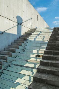 mirrored stair intalltaion