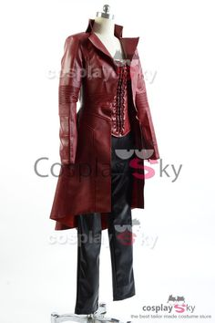 Captain America Civil War Avengers Scarlet Witch Wanda Outfit Cosplay Costume_3