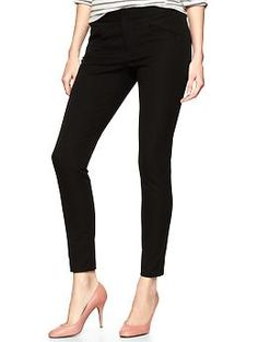 GAP- ultra skinny premium pants. perfect fit. midrise. flattering. perfect material- has the weight needed for work appropriate skinny pants.