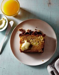 Two simply delicious apple breads—one an absolutely classic recipe, the other a savory, sliceable apple-bacon bread pudding—offer a taste of a time before celebrity chefs commandeered our cookbook shelves. Apple Desserts, Apple Recipes, Dessert Bread, Dessert Recipes, Bread Winners, Breakfast Bread Recipes, Apple Bread, Stick Of Butter, Sweet Bread