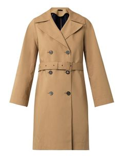 $937, Tan Trenchcoat: The Row Guyen Double Faced Cotton Trench Coat. Sold by MATCHESFASHION.COM. Click for more info: http://lookastic.com/women/shop_items/75406/redirect
