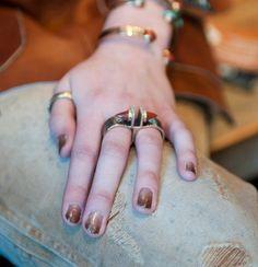 Neutral ombre'd nails
