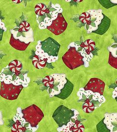 Holiday Inspirations Fabric- Susan Winget Christmas Cupcakes : fabric :  Shop | Joann.com