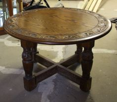 Round Carved Oak Jaycee Coffee Table on Gumtree. Round carved Oak Jaycee Coffee Table : D: 30 inches H:18 inches In very good condition