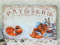 Patisserie sign French Country signs Bakery by RusticCraftsbySue French Bakery Decor, Bakery Sign, French Signs, Paris Decor, Country Signs, French Country Cottage, Coffee Signs, Kitchen Signs, Wooden Signs