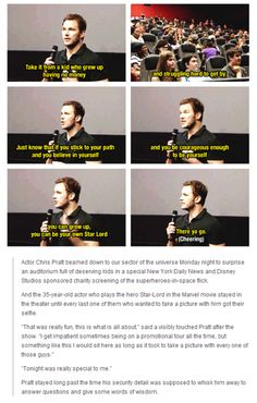 And finally, when he was just so damn inspirational. | 21 Times Chris Pratt Was Too Good For This World