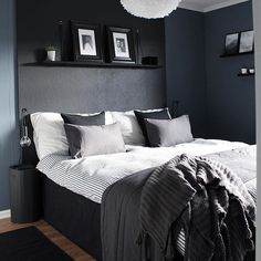 bedroom design ideas you will want to sleep in 00013 Master Bedroom Interior, Dream Bedroom, Home Bedroom, Modern Bedroom, Bedroom Decor, Best Bedding Sets, Grey Furniture, Room Setup, Home Room Design