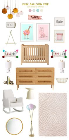 pink balloon pop baby room ideas