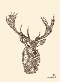 Animal typography - Stag by techitch34 on DeviantArt