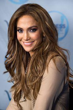 jennifer lopez - I love her hair color
