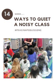 Quiet a Noisy Class! Behavior management strategies for classroom management: preschool, kindergarte Teaching 5th Grade, 3rd Grade Classroom, First Grade Teachers, Primary Classroom, Preschool Kindergarten, Second Grade Math, Sixth Grade, Fourth Grade, Third Grade