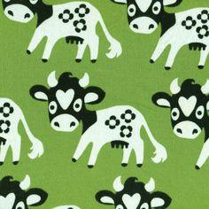 Hippe kinderstof - Groene Koe vanaf 2.20
