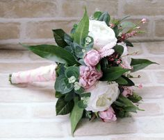 POST CHRISTMAS SALE Bridal Bouquet, Wedding Bouquet, Artificial and Silk Wedding Flowers.  Peonies, roses, wildflowers lush foliage.