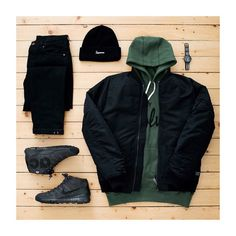 Cold weather grid Wear Under Armour or Reebok instead of Nike. Swag Outfits Men, Stylish Mens Outfits, Tomboy Outfits, Casual Outfits, Men Casual, Fashion Outfits, Mode Streetwear, Streetwear Fashion, Urban Fashion