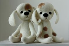 Puppy Love felted duo