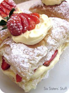 Easy Strawberry Napoleon Recipe | Six Sisters' Stuff