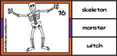 Halloween set - eslchallenge Halloween Vocabulary, Halloween Worksheets, Halloween Spells, Halloween Fun, English Teaching Resources, Cool Kids, Kids Fun, Halloween Treat Bags, Vocabulary Activities