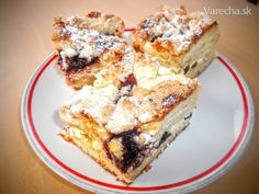 Kysnutý tvarohovo-lekvárový koláč s mrveničkou (fotorecept) - Recept