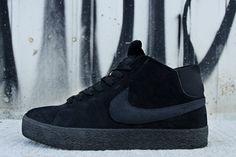 timeless design 39f26 f54af Nike SB Blazer Mid LR Black Dark Grey  Nike s skate-ready,  Lunarlon-cushioned update to the classic Blazer returns for Summer 2013 with