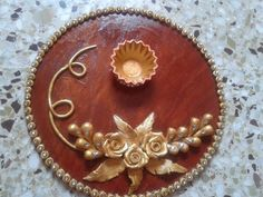 Discover Crafts by Priyanka Jain on Touchtalent. Touchtalent is premier online community of creative individuals helping creators like Priyanka Jain in getting global visibility. Dyi Decorations, Diwali Decorations, Indian Wedding Decorations, Festival Decorations, Decor Crafts, Diwali Diy, Diwali Craft, Arti Thali Decoration, Engagement Ring Platter