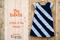 icandy handmade: (review and giveaway) Peek-A-Boo Patterns: Isabella Dress