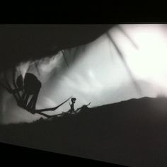 The game Limbo https://itunes.apple.com/us/app/limbo-game/id656951157?mt=8&at=10laCC