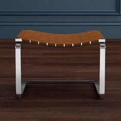 Brentwood Woven Leather Ottoman #williamssonoma