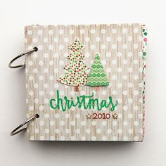 Pinning this as much for the layouts as the overall idea, love the color/pattern combos! Use a pre-made chipboard album to document your Christmas. Lots of examples of decorated pages!