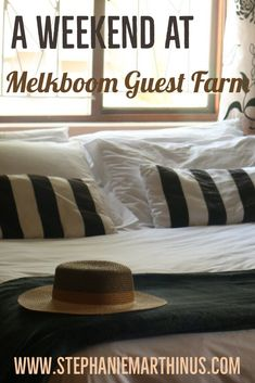 A Weekend at Melkboom Guest Farm in Heidelberg. If you're ever planning a trip to the small town of Heidelberg, make sure to stay at Melkboom Guest Farm along the Garden Route. Weekender, Small Towns, South Africa, Bed Pillows, Garden, Home, Heidelberg, Pillows, Garten