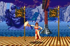 Poster of #MaiShiranui's stage from #FatalFury 2.