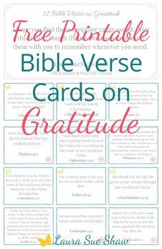 Bible Verse Cards on Gratitude