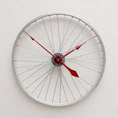 Bicycle wheel clock  Gloucestershire Resource Centre  http://www.grcltd.org/scrapstore/