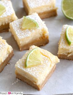 Margarita Bars are a delicious take on ooey gooey butter cake bars. Deliciously creamy with a hint of refreshing lime. Great summer dessert!