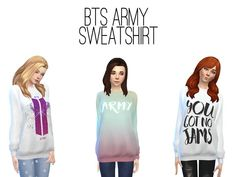 BTS ARMY Sweatshirt by Darcy18 at TSR • Sims 4 Updates