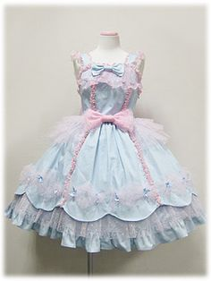 "kawaiitatsu: "" I've never seen this before, but I really love it! ✧*:・゚✧ Candy Fairy by Angelic Pretty ✧ JSK ✧ OP ✧ """