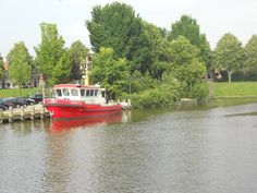 Traileryacht in Dokkum, the Netherlands.