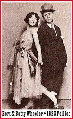 Vintage 1923, Bert and Betty Wheeler in the Ziegfeld Follies, NYC, www.RevWill.com