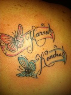 Name tattoos Butterfly tattoos with names and Tattoo with names on ...