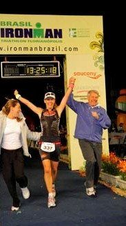 Renata at finish line.