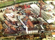 Aerial view of Malton showing Cameron's brewery before supermarket was built. Aerial View, Brewery, Paris Skyline, Times Square, New Homes, Building, Travel, Viajes, New Home Essentials