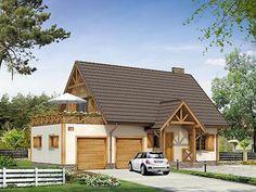 Kawka 3 projekt domu - DOMY w Stylu Interior And Exterior, Interior Design, Log Homes, Home Fashion, Ideas Para, House Plans, Sweet Home, House Design, House Styles